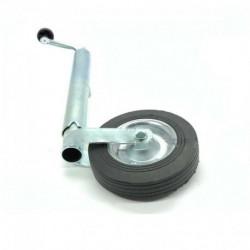 Roue Jockey - Tube diamètre 48 mm - Jante métal