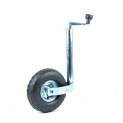 Roue Jockey avec roue gonflable